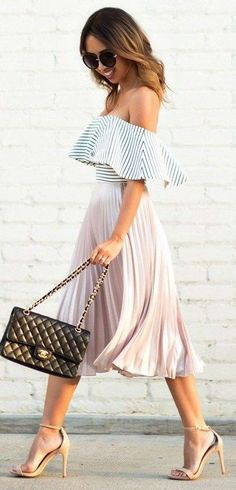 elegant spring outfit idea