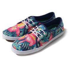 Vans floral sneakers surf VANS Tazie FO7 Hawaiian hibiscus flower print sneaker shoes shoes (women's)