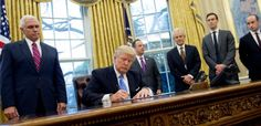 Donald Trump Surrounded By Other Men, Signed An Executive Order On Monday That Will Impact Women's Reproductive Health Access Worldwide. Donald Trump has reinstated the Mexico City policy, also known as the global gag rule. It was first put in place by President Ronald Reagan in 1984 and prohibits giving U.S. funding to international nongovernmental …