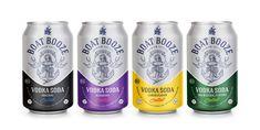 Boat Booze Vodka Soda by Stilian Goranov Beer Packaging, Beverage Packaging, Craft Beer Labels, Beer Label Design, Packaging Design Inspiration, Design Packaging, Beer Brands, Vodka, Cocktails