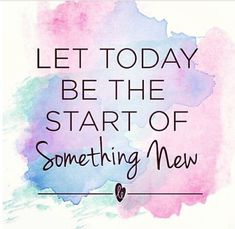Aahhh, how beautiful the smell of a fresh new start smells! we humans tend to hold on, and be fearful of the new beginnings...