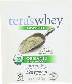 Teras Whey Protein Powder - Whey - Organic - Plain Unsweetened - 1 Oz - Case Of 12 Organic Whey Protein, Organic Superfoods, Whey Protein Powder, Whey Protein Concentrate, Protein Power, It Goes On, Protein Shakes, Nutrition, Pure Products