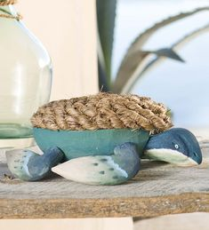 Wood and Rope Turtle in Home Accents