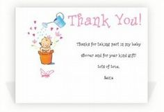Highly Appreciated Baby Shower Thank You Note Wordings | baby shower ...