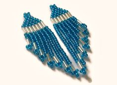 Blue Earrings by Cris and Kate on Etsy
