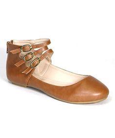 Another great find on #zulily! Chestnut Reversal Ankle-Strap Flat #zulilyfinds