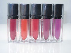 Maybelline Color Elixirs for summer 2014: Glowing Garnet, Orange Aglow, Radiant Raspberry, Luminous Lilac, Luxe in Lilac