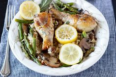 One Pot Tuscan Lemon Chicken and Rice   from Simple Healthy Kitchen