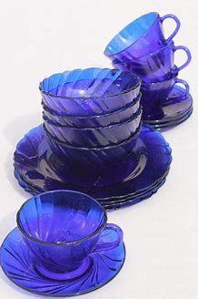 Vintage Cobalt Blue Glass Dishes Blue Glass Blue Glassware