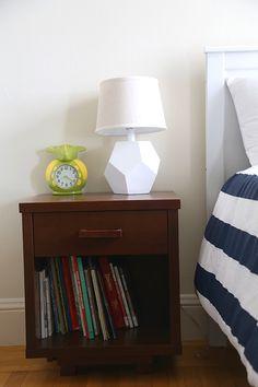 Henry's Room  @Liz Stanley Land of Nod nightstand and lamp.