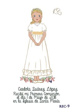 Dibujos para tus recordatorios, marcapáginas, invitaciones, etiquetas ..., todos ellos hechos a mano, cuidando al máximo cada detalle. Communion, Cardmaking, Celebrations, Angeles, Disney Princess, Disney Characters, First Holy Communion, Eucharist, Sour Cream