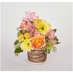 How Else To Say Happy Mother S Day Other Than An Adorable Floral Design With Images Happy Mothers Day Happy Mothers Happy Mother S Day Greetings