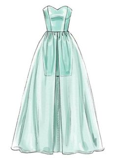 ideas sewing illustration fashion design dress patterns for 2019 Dress Design Drawing, Dress Design Sketches, Fashion Design Sketchbook, Fashion Design Drawings, Dress Drawing, Drawing Clothes, Fashion Sketches, Pattern Design Drawing, Dress Designs