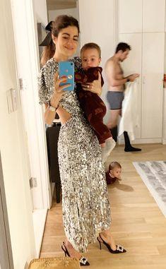 Leandro un sequin dress Stockholm Street Style, Paris Street, Milan Fashion Weeks, London Fashion, Sartorialist, Looks Chic, Trends, Ootd, Mode Style
