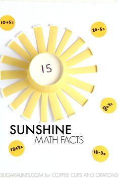 Sunshine math facts game for kids