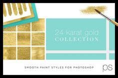 Photoshop: 24 Karat Gold Collection by Creators Couture on Creative Market