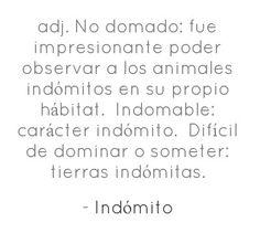 #definicion #indomito