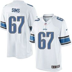 Men Nike Detroit Lions #67 Rob Sims Limited White NFL Jersey Sale
