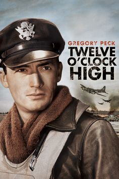 Twelve O'Clock High Movie Poster - Gregory Peck, Hugh Marlowe, Gary Merrill  #TwelveO, #ClockHigh, #GregoryPeck, #HughMarlowe, #GaryMerrill, #HenryKing, #ActionAdventure, #Art, #Film, #Movie, #Poster