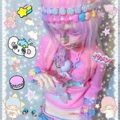 @isabellegeneva Pastel Punk, Pastel Goth Fashion, Ooak Dolls, Plush Dolls, Elf Doll, Kawaii Doll, Anime Dolls, Doll Repaint, Creepy Cute