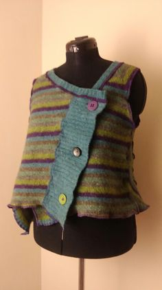 My favourite, shrunken jumper turned into a funky waistcoat.