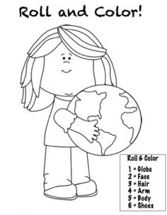 free earth day free educational printables pinterest free coloring earth and number. Black Bedroom Furniture Sets. Home Design Ideas