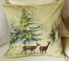 Can I transfer an old Christmas card to fabric and make a pillow? I think I can.