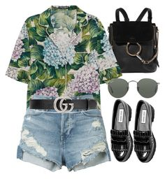 """Sin título #2208"" by alx97 ❤ liked on Polyvore featuring Chloé, Dolce&Gabbana, 3x1, Gucci, Steve Madden and Ray-Ban"
