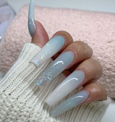 What you need to know about acrylic nails - My Nails Acrylic Nails Natural, Best Acrylic Nails, Summer Acrylic Nails, Summer Nails, Square Acrylic Nails, Acrylic Gel, Ongles Bling Bling, Bling Nails, Glitter Nails