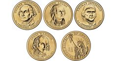 This is an excellent summary of the Presidential dollar series and how the portraits came to depict the President at the time of their Presidency.