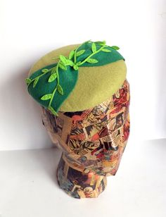 Poison Ivy Cosplay Bow Cocktail Hat Headpiece by ChefBizzaro, $75.00