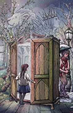 'Lucy's Discovery' Narnia fan art by Taylor Rose Fanart, Narnia Wardrobe, Lion Witch And Wardrobe, Narnia 3, Narnia Movies, Chronicles Of Narnia, Cs Lewis, Chef D Oeuvre, Coaster