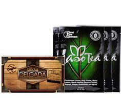 "WEIGHT LOSS KIT 2 Works faster than a crime fighter. Infused with Ganoderma, Iaso™ Café Delgada gives you the freedom to Wake & Make & Lose Weight on the go with its portability packs. Combined with the cleansing and detoxifying effects of Iaso™ Tea's herbal blend, this duo is a sure fire way to start to feel great! No wonder we call this kit ""The Dynamic Duo""."