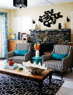 House of Turquoise: Teresa Wiwchar -- Elegant black, white, and turquoise