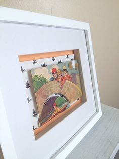 Over the Bridge - Vintage Children's Book Framed 3D Artwork on Etsy, $35.00 AUD