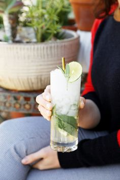 The best cocktail for winter: a classic gin and tonic with fresh sage leaves. Bright with lime and earthy with sage, this cocktail is simple but super special!