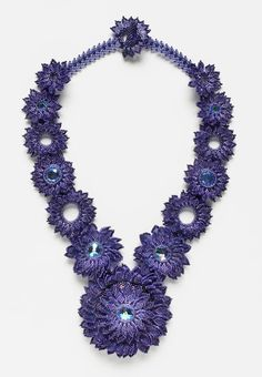 2013 Bead Dreams ribbon winners  3rd Place – Violet Blossoms by Gabriela Mendez Fernandez,