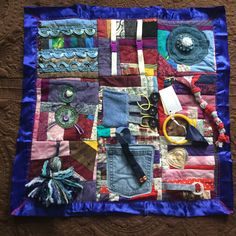 Fidget Quilt/Sensory Blanket This n That Blue by EclecticEchos