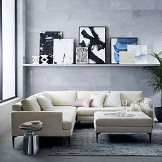 Andes L-Shaped Sectional #westelm