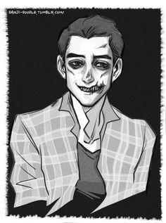 Until Dawn Hell, Josh Washington Trash, Sam X Josh — danji-doodle:   He still smiles now and then....