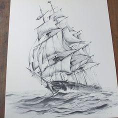 60s Sailboat Print / Vintage Nautical Art Print / by SPUNKvtg, $38.00