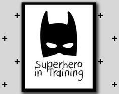 Superhero in Training Print Room Print Boys by SophieLousPrints