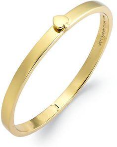 kate spade new york Bracelet, 12k Gold-Plated Spade Hinged Thin Bangle Bracelet on shopstyle.co.uk