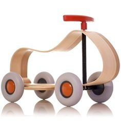 This popular European ride-on toy is constructed from one