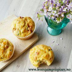 Hver gang vi spiser: Ostemuffins med gressløk og sprøstekt spekeskinke