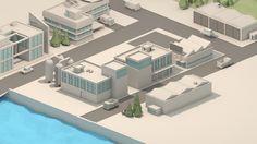 ArtStation - low poly industrial town, niek Menger