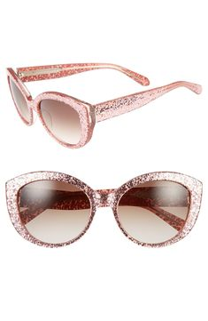 Crushing on these pink glitter cat eye sunglasses | Kate Spade