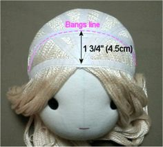 How to make, see and style a doll wig. Free pattern and detailed instructions for soft cloth doll. Lots of photos! Great tutorial!
