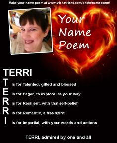 Pin by Rhonda Aldrich on ECLECTICALLY ME   Pinterest   Acrostic Poems With The Name Terri