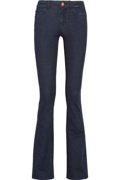 M.i.h Jeans - The Bodycon Marrakesh Mid-rise Flared Jeans - Dark denim - 25